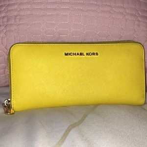 Michael Kors yellow wallet